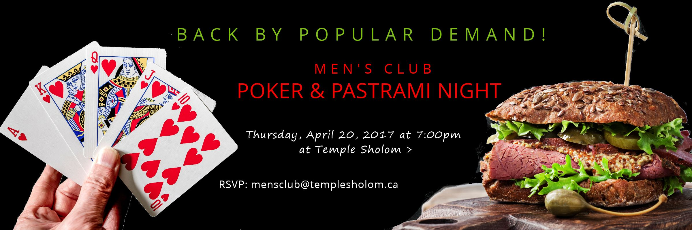 Men's Club Poker & Pastrami Night